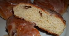 Ντόνατς φούρνου με σταφίδες και κανέλα