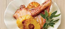Χοιρινές μπριζόλες με ανανά