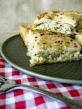 Traditional Greek leek pie with home made phyllo/ Κλασική πρασόπιτα με σπιτικό φύλλο