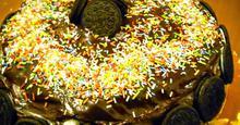 Τούρτα σοκολάτα με  μπισκότα Oreo