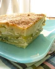 "Courgette and potato ""pie"" (boureki) from Chania/Χανιώτικο Μπουρέκι (πίτα με πατάτα και κολοκύθι)"