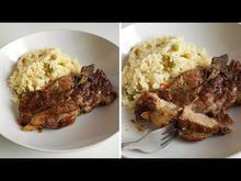 Ζουμερή Μπριζόλα στην Λαδόκολλα Pork Steak Baked in Parchment