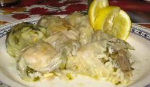 Λαχανοντολμάδες με μανιτάρια και κουκουνάρι