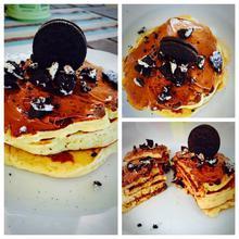 Τούρτα pancakes με μπισκότα Oreo