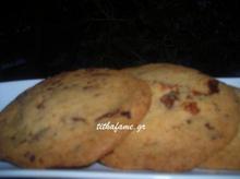 Cookies με σοκολάτα φράουλα