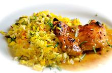 Πιλάφι με σαφράν και κοτόπουλο