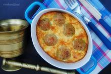 κεφτέδες με αβγά/Meatballs Frittata