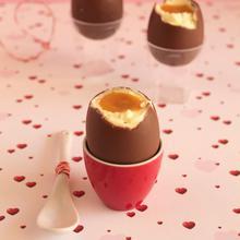 Πασχαλινά σοκολατένια αυγά με γέμιση cheesecake - The one with all the tastes