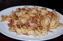 ζυμαρικά με κουνουπίδι και μπέικον/Cauliflower And Bacon Pasta