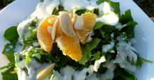 Γιορτινή σαλάτα με πορτοκάλι και ξυνόγαλο