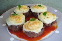 Nests of minced meat stuffed - Recipes - Chefoulis