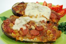 Sausage stuffed eggplant - Recipes - Chefoulis