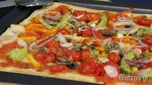 Λεπτή Πίτσα με 4 Τυριά