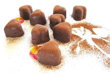 Γεμιστά σοκολατάκια με ζαχαρούχο γάλα