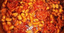 Γίγαντες με Ντομάτα Giant Baked Beans with Tomato