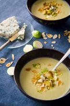 Brussels Sprouts Soup with Blue Cheese – Σούπα με Λαχανάκια Βρυξελλών και Μπλε Τυρί - The Healthy Cook