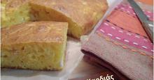 Αλμυρό κέικ με καλαμποκάλευρο και τυριά