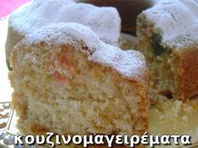 Κέικ νηστίσιμο, με λουκουμάκια και ροδόνερο