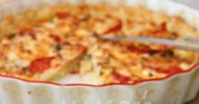 Τάρτα με κολοκύθι, ντομάτα, νεροκρέμμυδο Ζακύνθου και φέτα