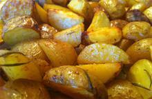 Rosemary roasted potatoes - Recipes - Chefoulis