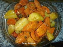 Πατάτες φούρνου με καρότα και γλυκοπατάτες