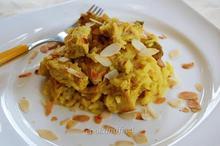Ρύζι με πουλερικά και κάρυ/Turkey with curried rice