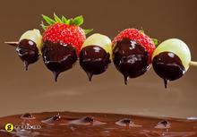 Φοντύ σοκολάτας με φρούτα
