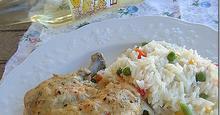 Κοτόπουλο με σάλτσα ρετσίνας