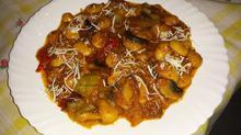 Φασόλια γίγαντες στο φούρνο με μανιτάρια και πιπεριές