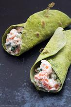 Kale Wraps with Shrimp & Tarragon Salad – Σαλάτα με Γαρίδες & Εστραγκόν σε Πίτες από Κέιλ - The Healthy Cook