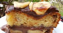 Κέικ γεμιστό ή muffins με μπανάνα και άλειμα σοκολάτας