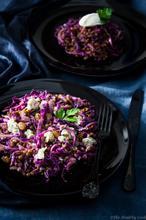 Lentils, Red Cabbage & Stilton Salad – Σαλάτα με Φακές, Κόκκινο Λάχανο και Στίλτον - The Healthy Cook
