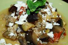 ρύζι με μελιτζάνες και κολοκυθάκια/Eggplant And Zucchini Rice Medley