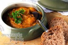 Σούπα με κίτρινη κολοκύθα, καρότα και πατάτες