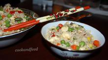 Ρύζι με λαχανικά και αυγά/Egg And Vegetable Rice