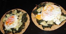 Πίτα Πίτσα με Σπανάκι Pita Spinach Pie
