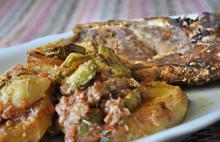 Μπριζόλες φούρνου με κολοκυθάκια - Συνταγές Μαγειρικής - Chefoulis