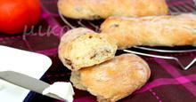 Μπαστουνάκια ψωμιού με ελιές και χυμό πορτοκαλιού - Bread sticks with olives and orange juice