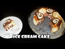 Τούρτα Παγωτό Με Κέικ Ρολό Ice cream Cake-Jelly Roll Style