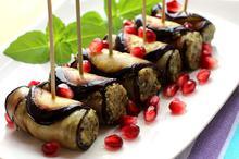 Ρολάκια μελιτζάνας με καρύδι - Συνταγές Μαγειρικής - Chefoulis