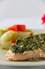 Salmon with Capers & Leeks – Σολομός με Κάππαρη & Πράσα