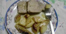 Χοιρινό  στο  φούρνο  με  μουστάρδα  και  πιπεριά