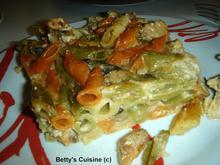 Πένες τρικολόρε με μανιτάρια σε κρεμώδη σάλτσα