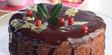 Συνταγή: Βασιλόπιτα με σοκολάτα, σταφίδες, σκόνη αμυγδάλου