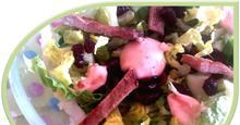 Σαλάτα με χοιρινό και cranberries