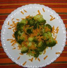 Σαλάτα με μπρόκολο και flakes καρότου