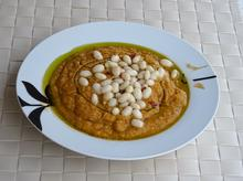 Πικάντικη σούπα με φασόλια βανίλιες και κόκκινες φακές