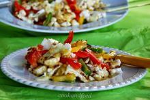Σαλάτα με κουνουπίδι και πιπεριές/Cauliflower And Pepper Salad