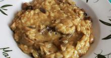 Ριζότο μανιταριών με ρύζι Καρολίνα Rissoto with mushrooms