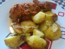 Πικάντικο Κοκκινιστό Μοσχαράκι με Πατάτες Φούρνου |